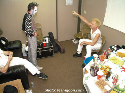 Backstage with The Adicts - British Invasion 2k4 - at Orange Pavillion - San Bernardino, CA - November 20, 2004