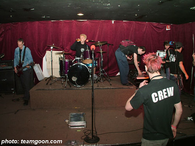 Sound check at The Roadhouse The Adicts November 2004 Tour