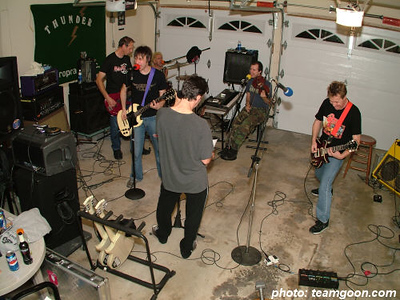 Pre tour rehearsal The Adicts November 2004 Tour