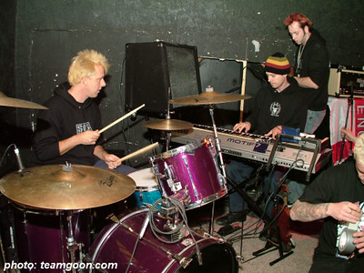 Sound check at Big Fish Pub in Arizona The Adicts November 2004 Tour
