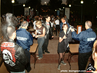 Getting in Wild in the Streets show - with TSOL - The Dickies - DI - Channel 3 - Pour Habit - at The Autry Museum - Los Angeles, CA - June 8, 2004
