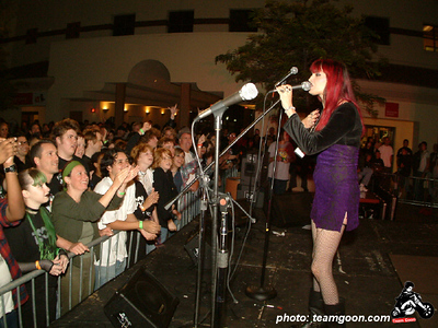Dinah Cancer of 45 Grave Wild in the Streets show - with TSOL - The Dickies - DI - Channel 3 - Pour Habit - at The Autry Museum - Los Angeles, CA - June 8, 2004