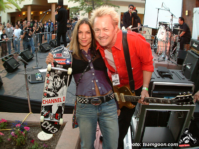 Kimm of Channel 3 with a winner Wild in the Streets show - with TSOL - The Dickies - DI - Channel 3 - Pour Habit - at The Autry Museum - Los Angeles, CA - June 8, 2004