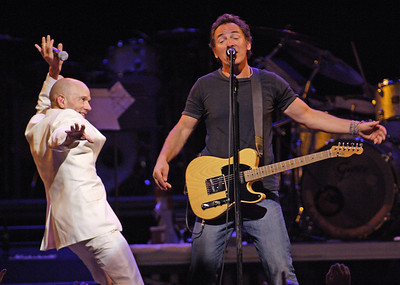 BRUCE SPRINGSTEEN PERFORMS WITH MICHAEL STIPE OF REM AT ORLANDO VOTE FOR CHANGE CONCERT