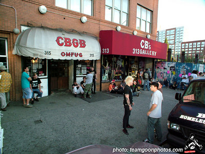 Arrived early to set up - Last Show at CBGB's with The Adolescents - Circle Jerks - Channel 3 - DI - 45 Grave - September 9 & 10, 2005 - New York, NY