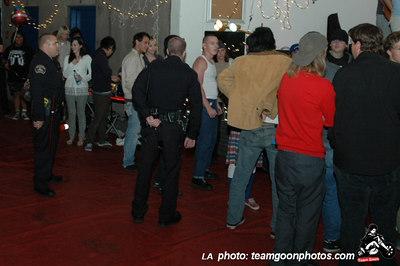 The Cops show up - Bad Antics - Audacity - Teredacdudes - Friendly Neighbors - at Fullerton Skate Park and Kent's - Fullerton, CA - November 4, 2006