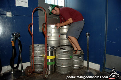 Just a fraction of the kegs that got drained over the next 3 days - Fuck Yeah Fest III - Los Angeles, CA - August 18, 2006