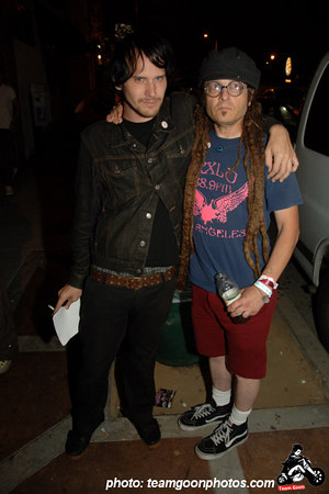 Brian of Silver Sun Pickups and Keith Morris, curator of the fest - Fuck Yeah Fest III - Los Angeles, CA - August 19, 2006
