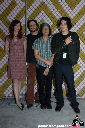 Silversun Pickups - from left to right are: Nikki Monninger, Joe Lester, Christopher Guanlao, Brian Aubert - Photo taken at The Hammer Museum - Los Angeles, CA - July 6, 2006
