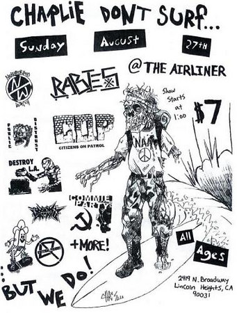 SHow flyer - at The Airliner - Lincoln Heights - Los Angeles, CA - August 27, 2006