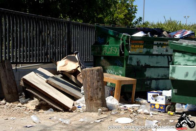 Trash out back - - at The Airliner - Lincoln Heights - Los Angeles, CA - August 27, 2006