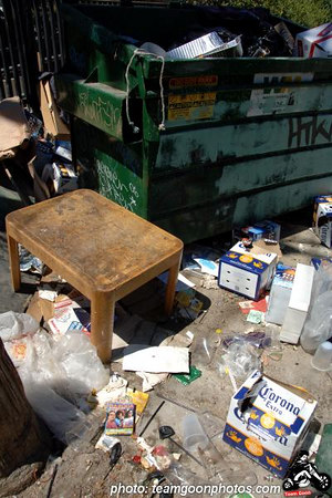 Trash out back - at The Airliner - Lincoln Heights - Los Angeles, CA - August 27, 2006