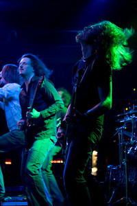 John McCleary (lead guitar) and Kenn Davis (bass)