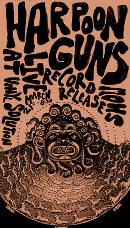 Harpoon Guns Record Release Poster.