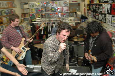 Harpoon Guns Record Release show live at Vinyl Solution in Huntington Beach, CA.