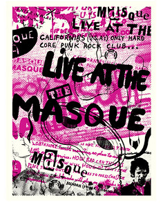 The Masque 30 year anniversary poster - at The Echoplex - November 11, 2007 - Los Angeles, CA