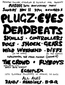 The Masque 30 year anniversary flyer - at The Echoplex - November 11, 2007 - Los Angeles, CA