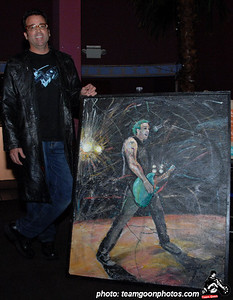 Artist Thomas Burgard show his painting that was done recreated from a Team Goon photo. Benefit show for Chickenhead of DI - with T.S.O.L. - Agent Orange - Manic Hispanic - DI - Shattered Faith -Franki Doll - Uprising - Drain Bramage - Narcoleptic Youth - Noise Attack - at The Galaxy - Santa Ana, CA - February 21, 2008