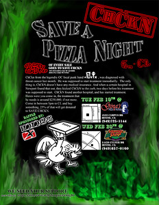 The benefit pizza night