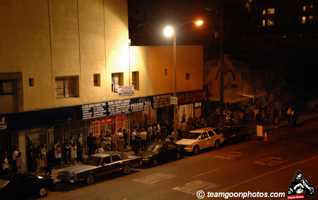 The line to get into the F*ck Yeah Fest - at The Echo