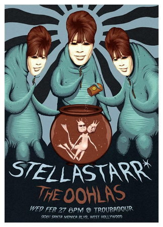 Show Flyer Stellastarr* and The Oohlas - at The Troubadour - February 27, 2008 - Hollywood, CA
