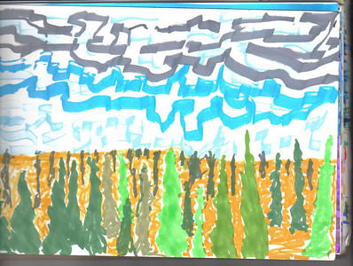 Hank's beautiful picture of the landscape.