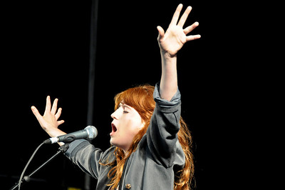 Florence & the Machine performing at Exhibition Road Music Festival 21-06-08