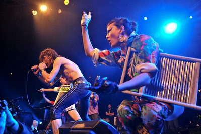 Gogol Bordello performing at the Roundhouse - 18/12/08