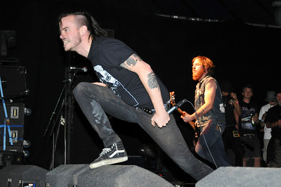 Cancer Bats performing at Reading 2008