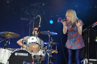 The Ting Tings performing at Reading 2008