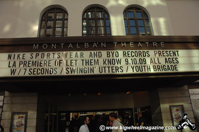 Los Angeles Movie Premier of - Let Them Know, The Story of Youth Brigade and BYO Records - at The Montalban Theatre - with Youth Brigade - Swingin Utters - 7 Seconds - Hollywood, CA - September 10, 2009