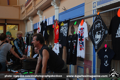 Merch area - The Adicts - Rebellion Festival 2009 - Blackpool, UK - August 8, 2009