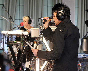 Gary Numan & Little Boots perform at BBC Maida Vale Studios - 07/12/09
