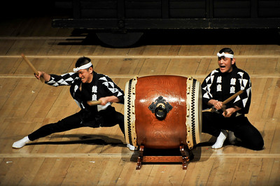 Kodo Drummers perform at the Royal Festival Hall, London - 06/06/09