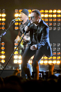 U2 performing at the Brits 2009
