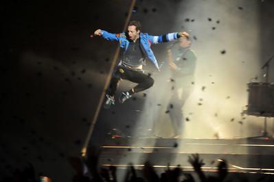 Coldplay performing at the Brits 2009