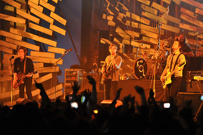 Kings of Leon performing at the Brits 2009