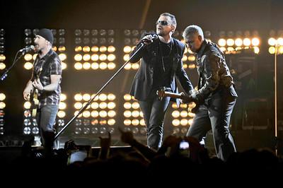 U2 performing at the Brits 2009