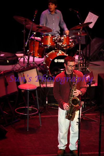 Tenor Saxophone, Rick DiMuzio; Drum Set, Mario Domenico Di Pietro