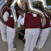 Prepping for and taking the Band picture