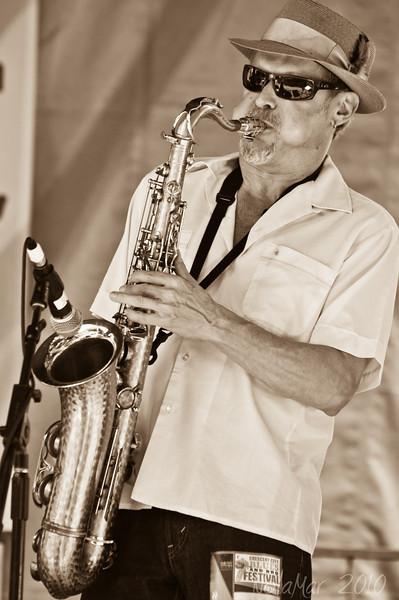Jimmy Carpenter - The Honey Island Swamp Band - Crescent City Blues & BBQ Festival 2010