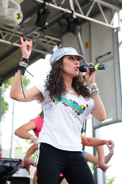 Medford, NY - JULY 17: Rennee Stakey Performs at  the 2010 Party FM's Mega Jam Hosted By Nickelodeon's I- Carly, Miranda Cosgrove at the Country Fair Entertainment Park Route 112, Medford, NY (Photo by Joseph Bellantoni/In House Image)