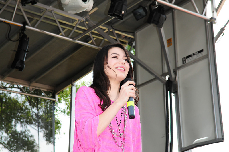 Medford, NY - JULY 17: Miranda Cosgrove Attends the 2010 Party FM's Mega Jam Hosted By Nickelodeon's I- Carly, Miranda Cosgrove at the Country Fair Entertainment Park Route 112, Medford, NY (Photo by Joseph Bellantoni/In House Image)