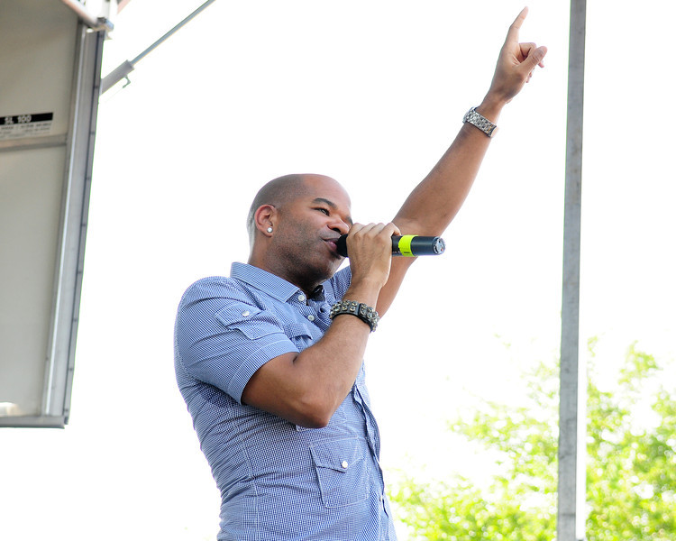 Medford, NY - JULY 17: Chris Willis Performs at  the 2010 Party FM's Mega Jam Hosted By Nickelodeon's I- Carly, Miranda Cosgrove at the Country Fair Entertainment Park Route 112, Medford, NY (Photo by Joseph Bellantoni/In House Image)