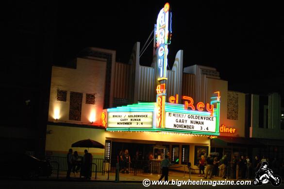 Gary Numan El Rey Theater marquee