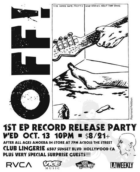 Scream - Redd Kross - Off! - at Club Lingerie - Hollywood, CA - October 13, 2010