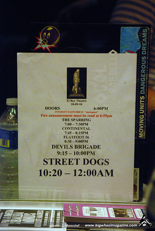Street Dogs - Devil's Brigade - Flatfoot 56 - Continental - The Sparring - at The El Rey Theater - Los Angeles, CA - October 9, 2010