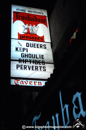The Queers - The Riptitdes - Kepi Ghoulie - The Perverts - at The Troubadour - Los Angeles, CA - November 26, 2010