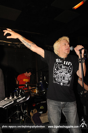 UK SUBS - at Cafe Drummonds - Aberdeen, UK - July 10, 2010