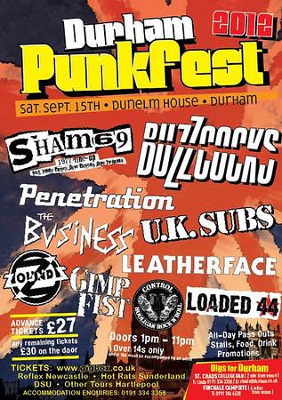 Durham Punk Festival - at Dunelm House - Durham, UK - September 15, 2012